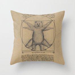 The Vitruvian Bear Throw Pillow