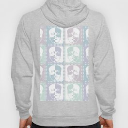 Abstract man face pastel colors Hoody