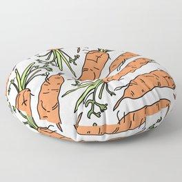 Orange Carrots Floor Pillow