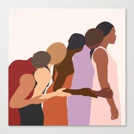 Women Supporting Women Art Print Canvas Print