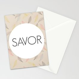 Savor Life Stationery Cards