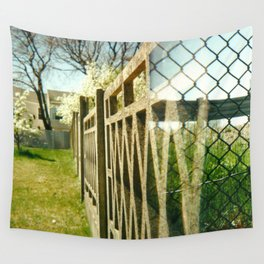 Two Fences Wall Tapestry