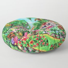 Baby Beach Bungalow 2 Floor Pillow