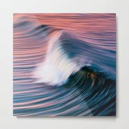 Sunrise Surf HB Pier 9/12/15  (Pk) Metal Print