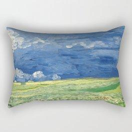 Vincent van Gogh - Wheatfield Under Thunderclouds Rectangular Pillow