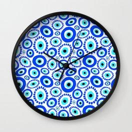 Evil Eye Mediterranean Lucky Symbol Wall Clock