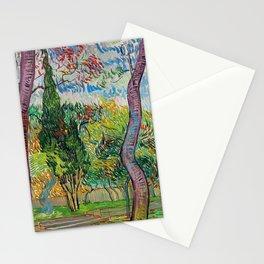 """Vincent van Gogh """"Parc de l'hôpital Saint-Paul"""" Stationery Cards"""