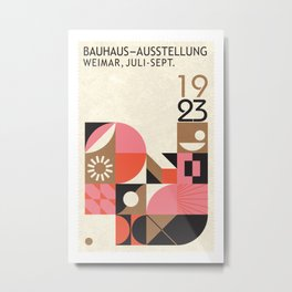 Bauhaus Geometric Art Metal Print