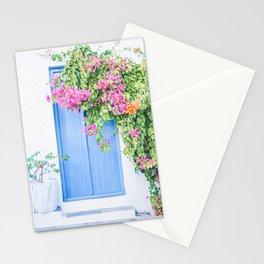 221. Flowers Door, Milos, Greece Stationery Cards