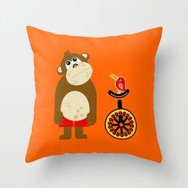 Mr. Monkey Throw Pillow