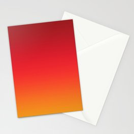 Montserrat - Classic Colorful Red Orange Abstract Minimal Modern Summer Style Color Gradient Stationery Cards