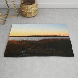 Watercolor Sunset, Janes Island 04, Maryland Rug