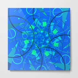 Blue Multiverse Metal Print