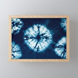 indigo tie dye Framed Mini Art Print
