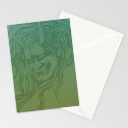 Japanese Oni Head Stationery Cards