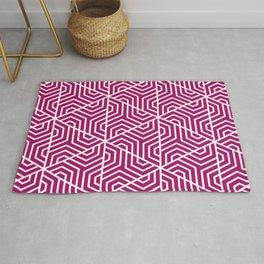 Jazzberry jam- violet - Geometric Seamless Triangles Pattern Rug