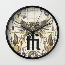 Guide for Constructing the Ligature ffi from Mira Calligraphiae Monumenta or The Model Book of Calli Wall Clock