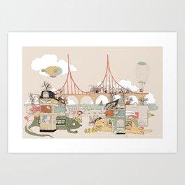City of Animamaly Art Print