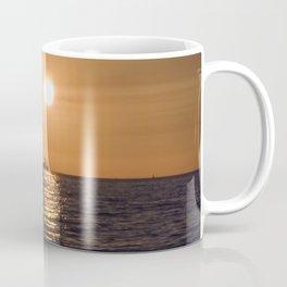 Summersunset with Boat - Warnemuende - Baltic Sea Coffee Mug