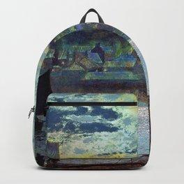 John Atkinson Grimshawn - Whitby Harbor - Digital Remastered Edition Backpack