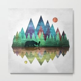 Forest Friends Trails Metal Print