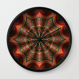 Tapestry Of The Golden Gate Ferry Wall Clock