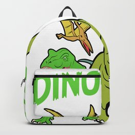 """Unique Dinosaur Tee For Animal Lovers """"T-rex Dino Race"""" T-shirt Design Jurassic Park Reptiles  Backpack"""