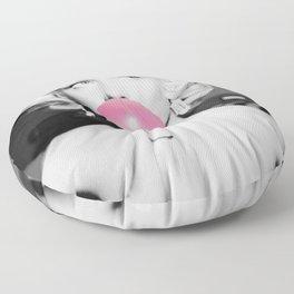 Bubble Gum Marilyn pop art portrait black and white photography - black and white photographs Floor Pillow