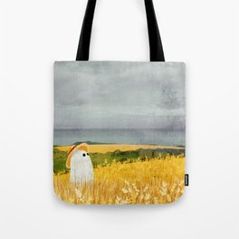 There's a ghost in the wheat field again... Tote Bag