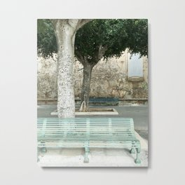 Bench under the trees Metal Print