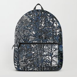 Snowy forest as seamless pattern Backpack