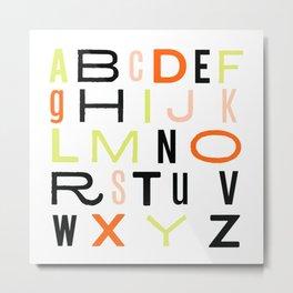 Eclectic Alphabet Metal Print