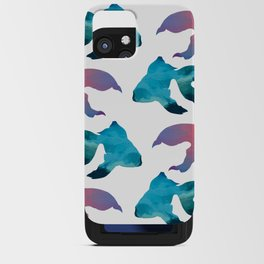 Pattern Oil Painting Abstract Tropical Fish iPhone Card Case