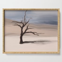 Alone Tree Serving Tray