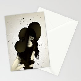 girl in the hat Stationery Cards