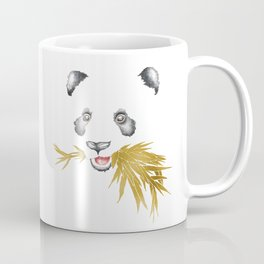 Panda Bear & Bamboo - Gold Bamboo Coffee Mug