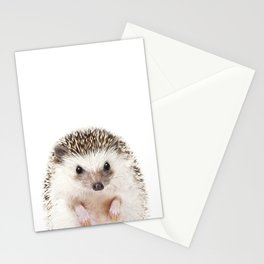 Baby Hedgehog, Baby Animals Art Prints by Synplus Stationery Cards