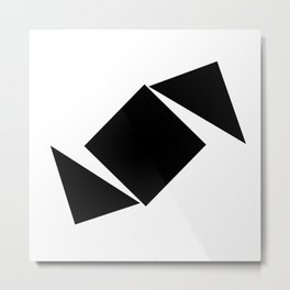 Abstract Modern Minimalist shapes Graphic Square triangles - balance Metal Print