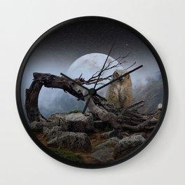 landscape owl Wall Clock