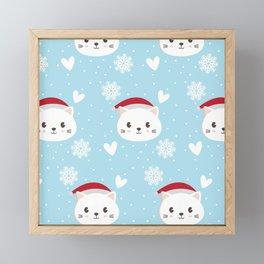 Christmas cat Framed Mini Art Print
