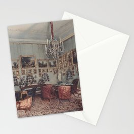 Interior In Palace Windischgratz In The Race In Wien 1848 by Rudolf von Alt | Reproduction Stationery Cards