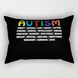 Autism Gift Awareness Autistic Supporter Rectangular Pillow