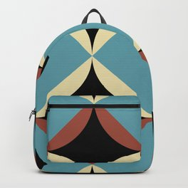 Frontal Fishes with squared blue mouths in a black deep sea. Backpack