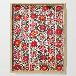 Bukhara Suzani  Antique Embroidery Print Serving Tray
