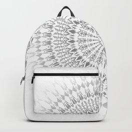 Light Grey White Mandala Backpack