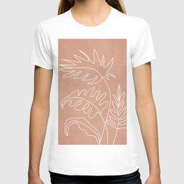Engraved Plant Line T-shirt