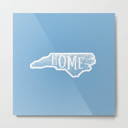 North Carolina Map State Blue Watercolor NC Home Metal Print