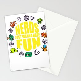 Nerdy geek fun RPG Gamer Dragon funny gift Stationery Cards