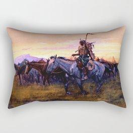 """Stolen Horses"" by Charles M Russell Rectangular Pillow"