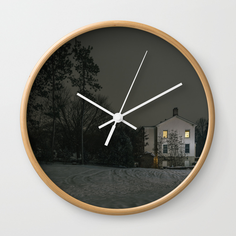 The House By The Cemetery Wall Clock by Peterbaker CLK967316